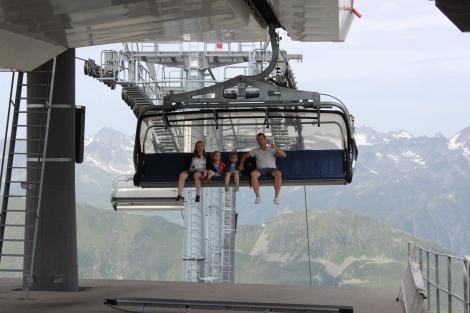 Paznaun-Ischgl in Tirol, Österreich